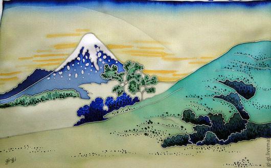 Пейзаж ручной работы. Ярмарка Мастеров - ручная работа. Купить Япония. Холм.. Handmade. Лимонный, вершина, гора, холм, небо