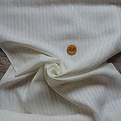 Материалы для творчества ручной работы. Ярмарка Мастеров - ручная работа лен ткань сетка полоска белая. Handmade.