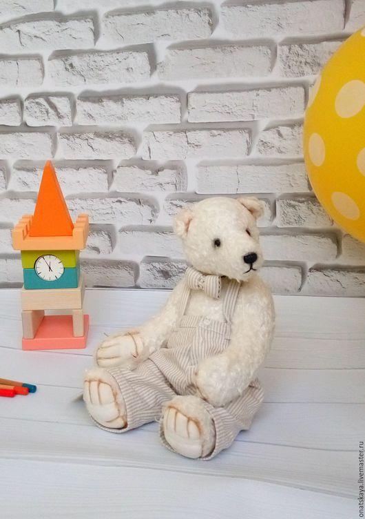 Мишки Тедди ручной работы. Ярмарка Мастеров - ручная работа. Купить Мишка джентльмен белый. Handmade. Белый, ирина онацкая