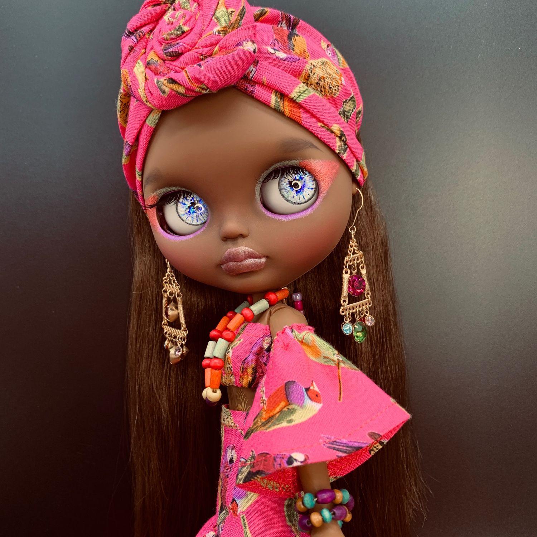 Кукла Блайз Blythe темнокожая Bianca Бьянка кастом, Коллекционные куклы, Краснодар, Фото №1