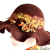 Аксессуары ручной работы. Ярмарка Мастеров - ручная работа Шляпа валяная Виктория1. Handmade.