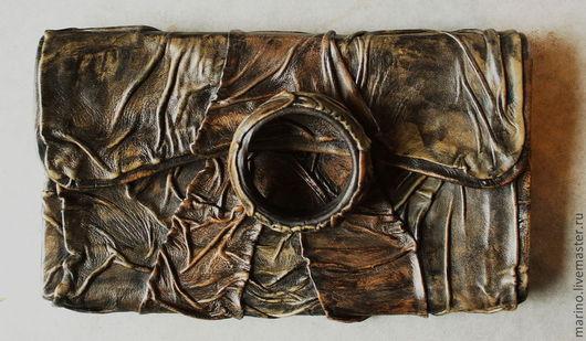 Женские сумки ручной работы. Ярмарка Мастеров - ручная работа. Купить клатч+браслет. Handmade. Коричневый, клатч ручной работы, кожа