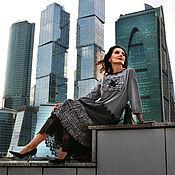 Одежда ручной работы. Ярмарка Мастеров - ручная работа Платье Осень Роза 3 ( Grey). Handmade.