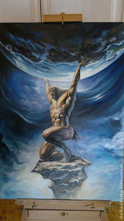 картина `Титан` картина на заказ 50х70,  ручная работа - холст, масло. 45тыс.руб.