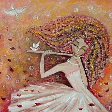 Картины и панно ручной работы. Ярмарка Мастеров - ручная работа Вальс розовых лепестков. Handmade.
