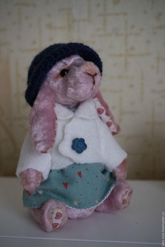 Мишки Тедди ручной работы. Ярмарка Мастеров - ручная работа. Купить Зайка тедди Леди. Handmade. Бледно-розовый, подарок
