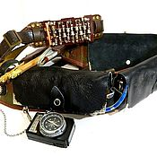 """Субкультуры handmade. Livemaster - original item Bandolier steampunk """"VICTORIAN WARRIOR-1"""" LEATHER, metalaccessories. Handmade."""