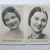 Открытки ручной работы. Ярмарка Мастеров - ручная работа фото мисс европа 1929- 1931 год комплект. Handmade.