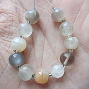 Материалы для творчества handmade. Livemaster - original item Moonstone multicolor. Set of beads.. Handmade.