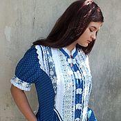 Одежда handmade. Livemaster - original item Dress summer cotton boho - Soft clouds. Handmade.