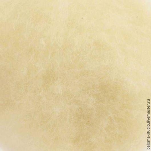 Валяние ручной работы. Ярмарка Мастеров - ручная работа. Купить Мериносовый кардочес Акация,50г(экстрафайн 18,5мкн). Handmade. Кардочес