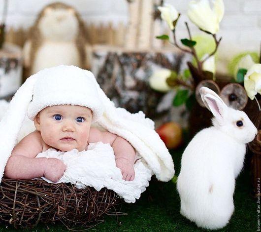Для новорожденных, ручной работы. Ярмарка Мастеров - ручная работа. Купить Шапочки для фотосессии новорожденных. Handmade. Комбинированный, вязание спицами