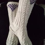 Одежда handmade. Livemaster - original item White knitted knee socks. Handmade.