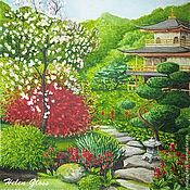"""Картины и панно ручной работы. Ярмарка Мастеров - ручная работа Картина """"Японский сад"""". Handmade."""