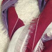 Аксессуары ручной работы. Ярмарка Мастеров - ручная работа льняной шарф - палантин в стиле бохо. Handmade.