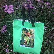 Сумки и аксессуары handmade. Livemaster - original item Green Shopping Bag Fairy with Willow. Handmade.