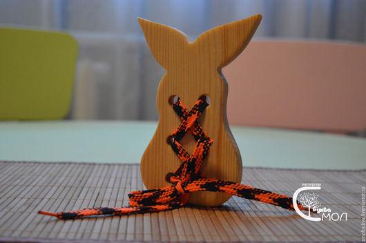 """Развивающие игрушки ручной работы. Ярмарка Мастеров - ручная работа. Купить Шнуровка """"Груша"""". Развивающая деревянная игрушка.. Handmade."""