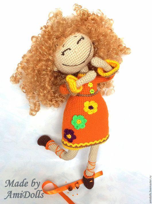 Коллекционные куклы ручной работы. Ярмарка Мастеров - ручная работа. Купить Кукла Аллуська. Итнтерьерная вязаная игрушка  амигуруми. Handmade.