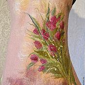 """Одежда ручной работы. Ярмарка Мастеров - ручная работа Жилет """"тюльпаны"""". Handmade."""