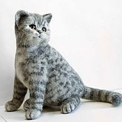 Куклы и игрушки handmade. Livemaster - original item Grey striped British cat. Felting toys out of wool. Handmade.