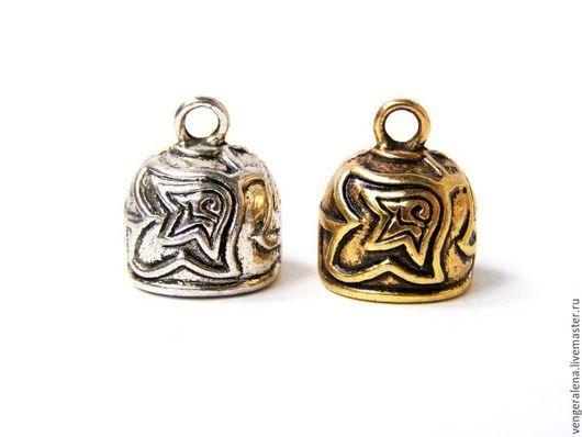 Для украшений ручной работы. Ярмарка Мастеров - ручная работа. Купить Колпачки Б6 для жгутов, концевики 15 мм золото cеребро  антик. Handmade.