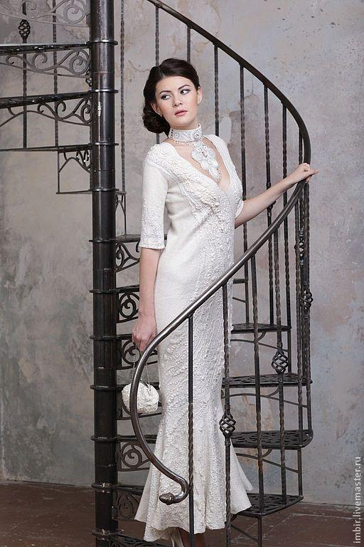 """Одежда и аксессуары ручной работы. Ярмарка Мастеров - ручная работа. Купить Свадебное платье """"Нежность"""". Handmade. Белый, нарядное платье"""