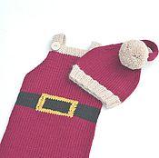 Работы для детей, handmade. Livemaster - original item The Santa suit cap pants for the photo shoot of newborns. Handmade.