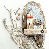 Для дома и интерьера ручной работы. Ярмарка Мастеров - ручная работа Шторм. Маяк. Ключница из дерева. Дрифтвуд арт.. Handmade.