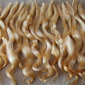 Материалы для творчества handmade. Livemaster - original item Hair for dolls (apricot) Curls Curls for dolls. Handmade.