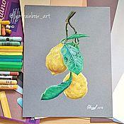 """Картины и панно ручной работы. Ярмарка Мастеров - ручная работа """"Лимоны"""". Handmade."""