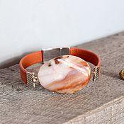 Украшения handmade. Livemaster - original item Bracelet with magnetic clasp with Jasper Sand dunes. Handmade.