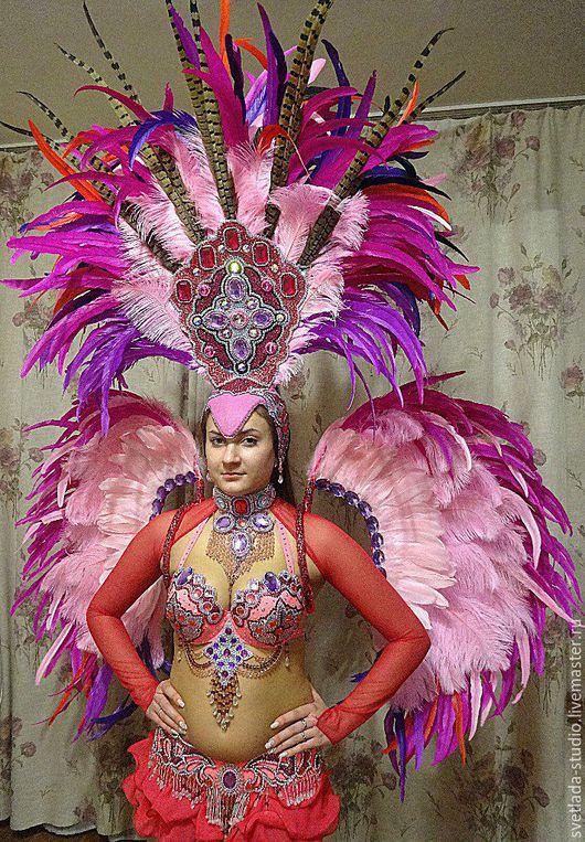 """Танцевальные костюмы ручной работы. Ярмарка Мастеров - ручная работа. Купить Танцевальный костюм """"Бразилия"""". Handmade. Розовый, костюм для танца"""