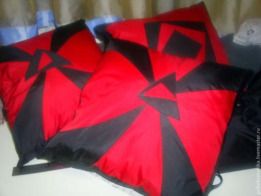 Текстиль, ковры ручной работы. Ярмарка Мастеров - ручная работа. Купить Подушка декоративная. Handmade. Ярко-красный, подушка