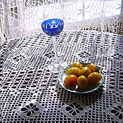 Для дома и интерьера handmade. Livemaster - original item Oval tablecloth Rustic chic. Handmade.