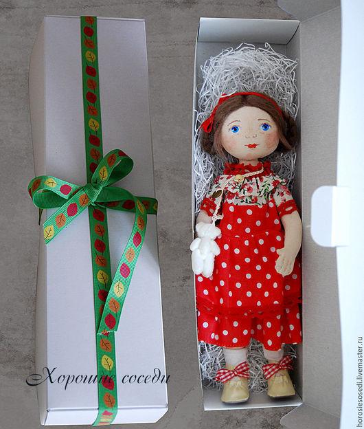 Коллекционные куклы ручной работы. Ярмарка Мастеров - ручная работа. Купить Танюшка или Чудо гороховое. Handmade. Ярко-красный