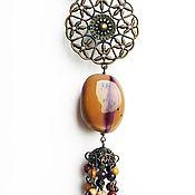 Украшения handmade. Livemaster - original item With pendant with Malaita Natural stones. Handmade.