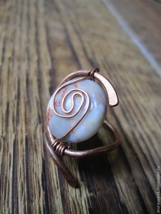 Кольца ручной работы. Ярмарка Мастеров - ручная работа. Купить Кольцо Туман над городом. Медное кольцо.. Handmade. Кольцо