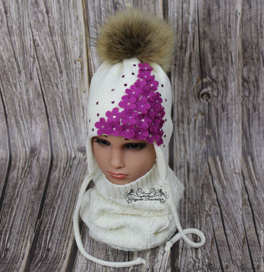 Шапки и шарфы ручной работы. Ярмарка Мастеров - ручная работа. Купить шапочка теплая детская мериносовая. Handmade. Шапочка