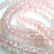 Материалы для творчества handmade. Livemaster - original item Rose quartz beads roundels. Handmade.