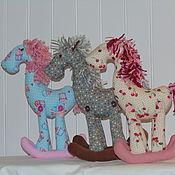 Текстильная лошадка качалка своими руками