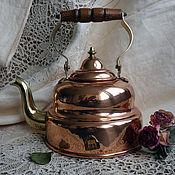 Винтаж ручной работы. Ярмарка Мастеров - ручная работа Старый медный чайник из Германии. Handmade.