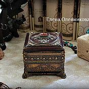 Для дома и интерьера ручной работы. Ярмарка Мастеров - ручная работа шкатулка с камнем. Handmade.