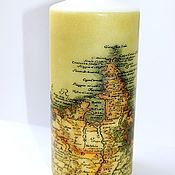 Candles handmade. Livemaster - original item the nautical theme: Candle Old map. Handmade.