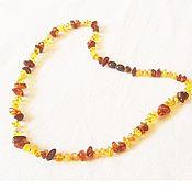 Украшения handmade. Livemaster - original item The Bright amber beads natural Baltic amber stone 50 cm. Handmade.