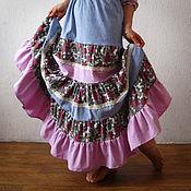 Бохо платье Акварель