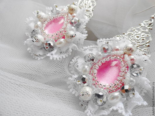 Свадебные украшения ручной работы. Ярмарка Мастеров - ручная работа. Купить Серьги Фламинго. Handmade. Серьги, свадебные серьги