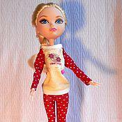 Куклы и игрушки ручной работы. Ярмарка Мастеров - ручная работа Пижамка для кукол типа Monster High, Ever After High, Marico. Handmade.