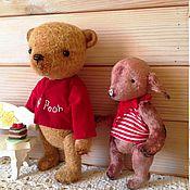 Куклы и игрушки ручной работы. Ярмарка Мастеров - ручная работа Винни Пух и его друг Пятачок.. Handmade.