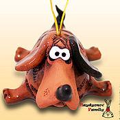 Сувениры и подарки handmade. Livemaster - original item The dog, a symbol of 2018. Dog. ceramic bell. Handmade.