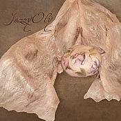 """Аксессуары ручной работы. Ярмарка Мастеров - ручная работа Комплект  из берета и шарфа """"Юлия"""". Handmade."""
